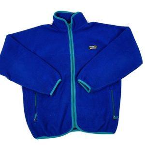 90s LL Bean Fleece Zip Front Jacket
